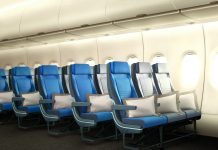 Economy-stoelen van Singapore Airlines in de A380