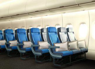 Economy-stoelen van Singapore Airlines in de A380